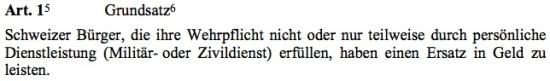 Bundesgesetz über die Wehrpflichtersatzabgabe (SR. 661)